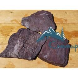 Камень сланец красно-фиолетовый