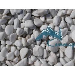 Галька мраморная белая 20-40 мм