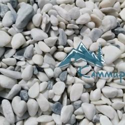 Галька мраморная бело-серая 5-20 мм