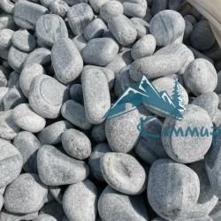 Мрамор галтованный серо-белый фр. 50-150 мм