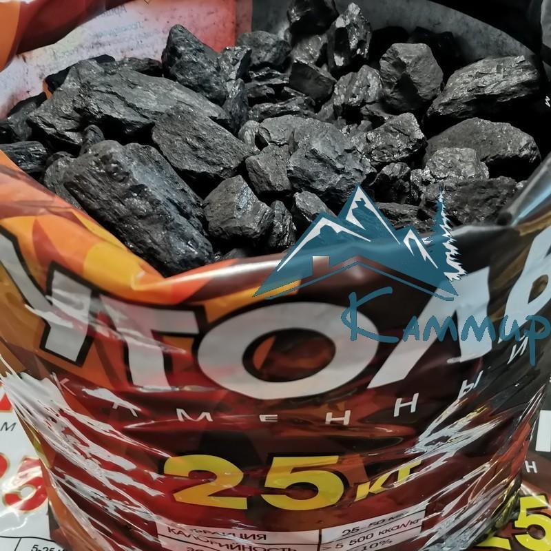 Уголь орех 25-50 мм в мешках по 25 кг