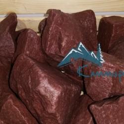 Колотый банный камень кварцит малиновый