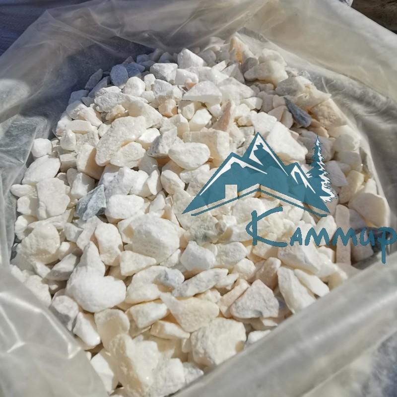 Мраморная крошка кремовая в мешках по 25 кг